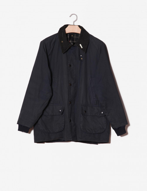 Barbour blu in cotone cerato-Barbour-frontale.jpg
