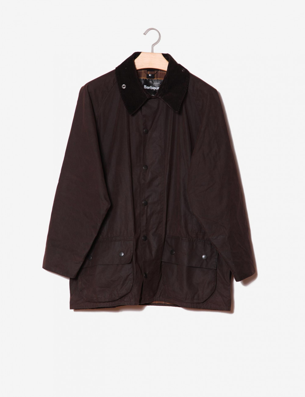 Barbour marrone in cotone cerato-Barbour-frontale.jpg