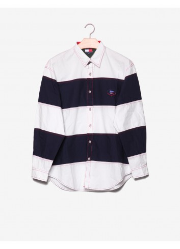 Camicia con cuciture a contrasto-Tommy Hilfiger-frontale.jpg