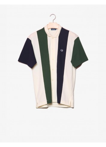 Camicia a righe con logo-Fred Perry-frontale.jpg