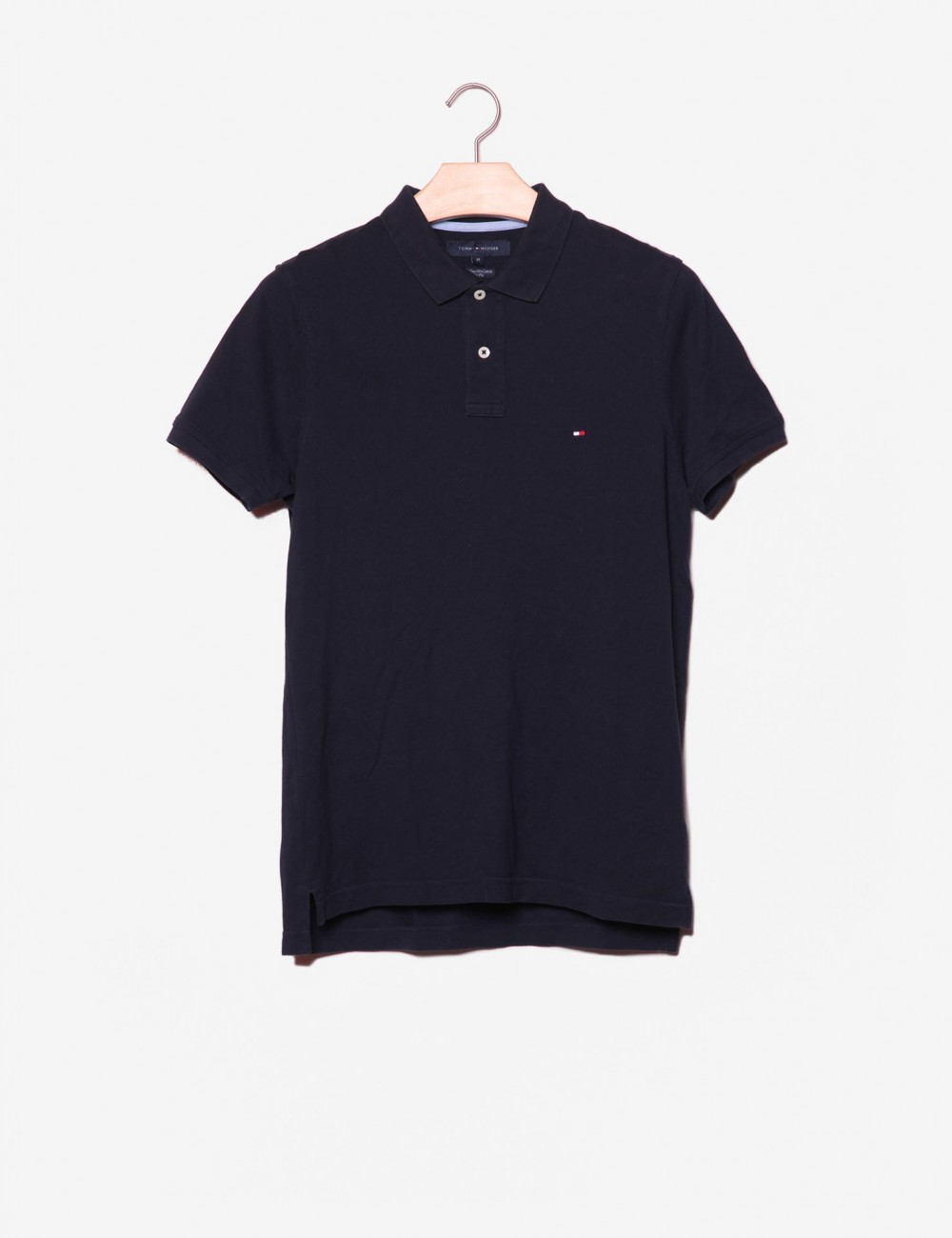 Polo Slim Fit con logo-Tommy Hilfiger-frontale.jpg
