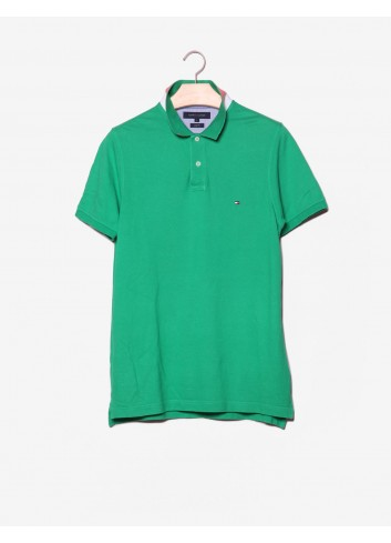 Polo Slim Fit con logo e colletto double-face-Tommy Hilfiger-frontale.jpg