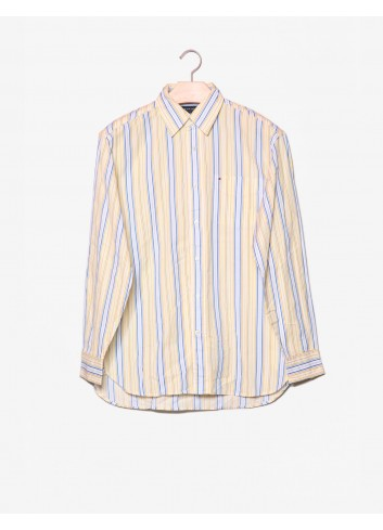 Camicia a righe con logo-Tommy Hilfiger-frontale.jpg