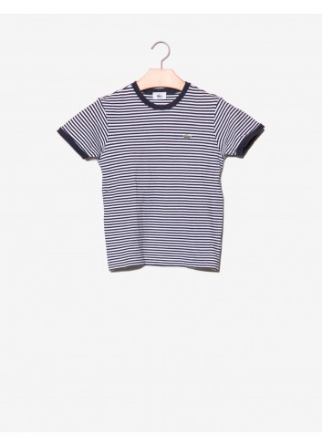T-shirt a righe con logo-Lacoste-frontale.jpg