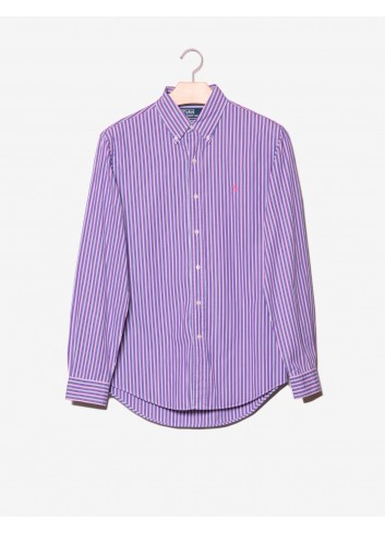 Camicia a righe Custom Fit-Ralph Lauren-frontale.jpg